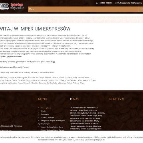 Renowacja ekspresów do kawy w Warszawie