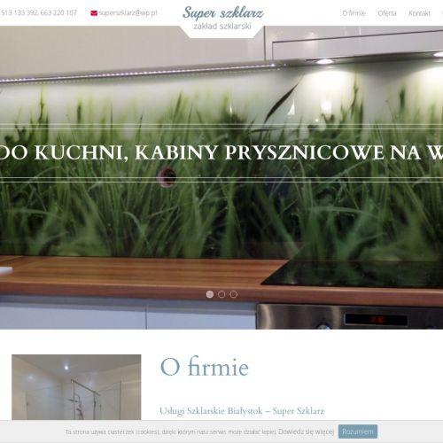 Szkło na ścianę do kuchni w Białymstoku