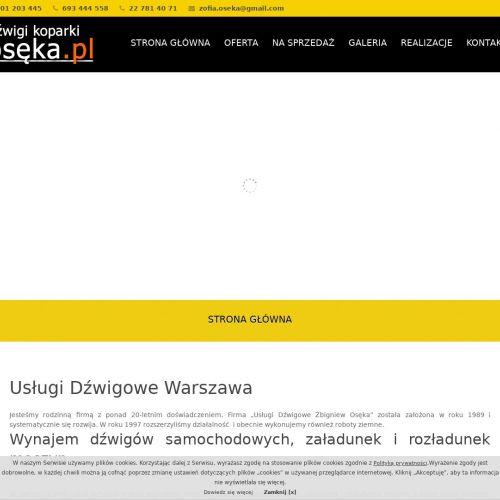 Dźwigi samojezdne Warszawa