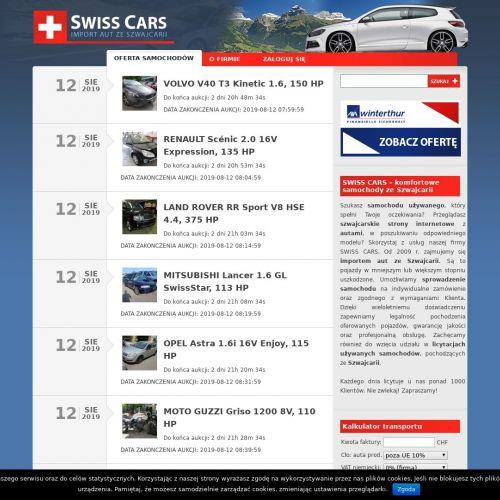 Samochody szwajcaria