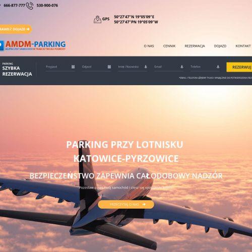 Parking przy lotnisku w pyrzowicach - Katowice