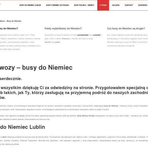 Częstochowa - przewóz osób do niemiec