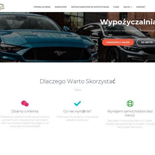 Wynajem samochodów sportowych Warszawa