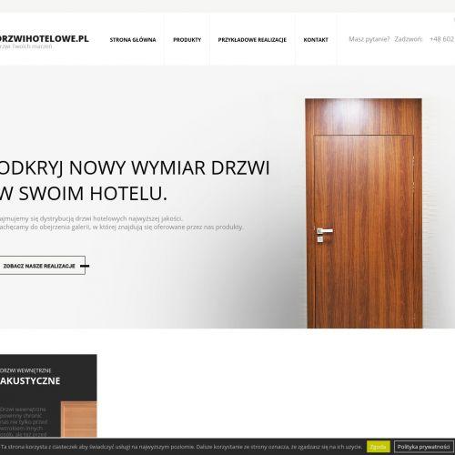 Dystrybucja drzwi hotelowych
