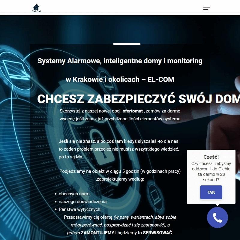 Kraków - alarmy montaż