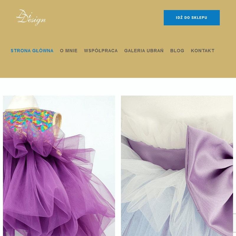 Sukienki handmade dla dziewczynek na bal