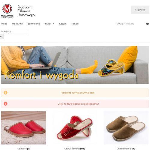 Pantofle męskie pełne