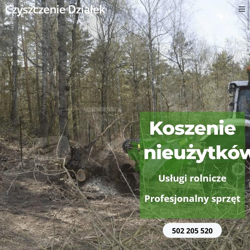 Karczowanie działek w Warszawie