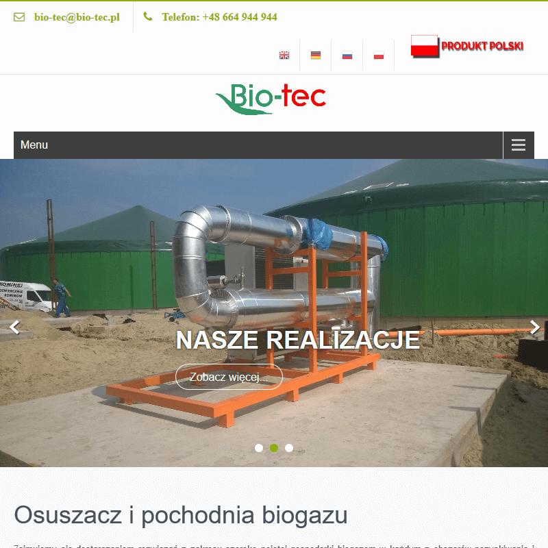 Systemy odsiarczania biogazu