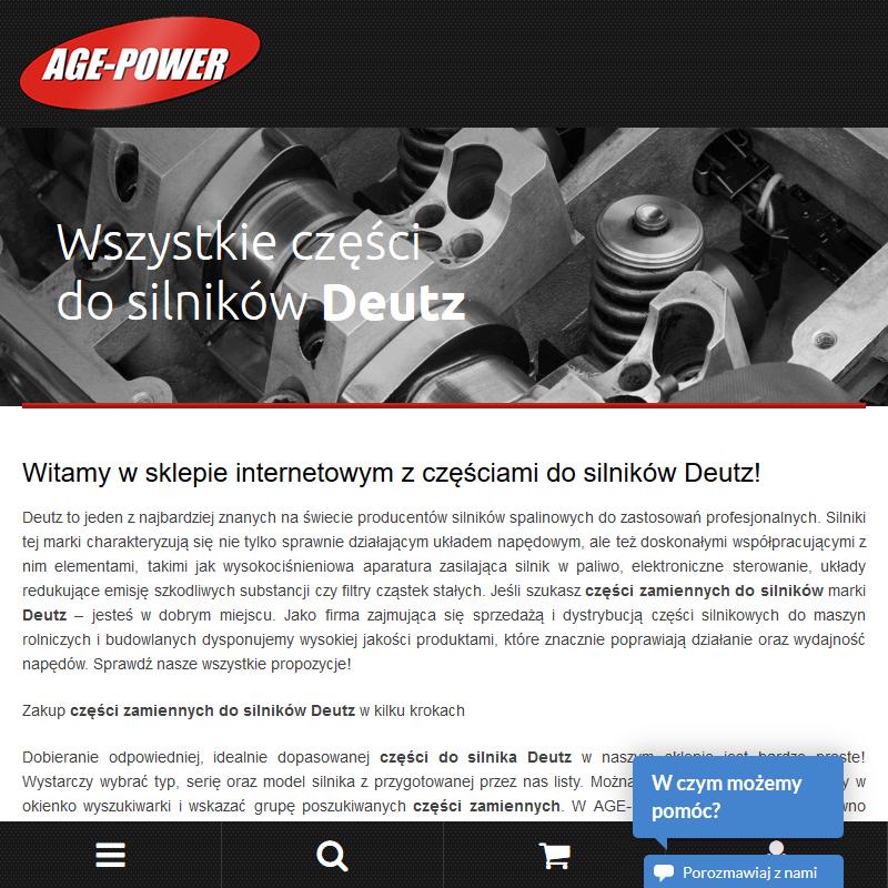 Części do silnika deutz w Warszawie