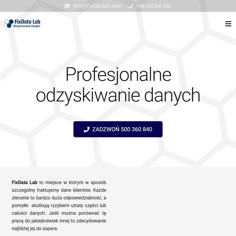 Odzyskiwanie danych - Warszawa