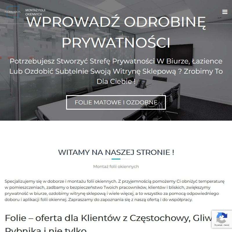 Reklamowe folie okienne - Częstochowa