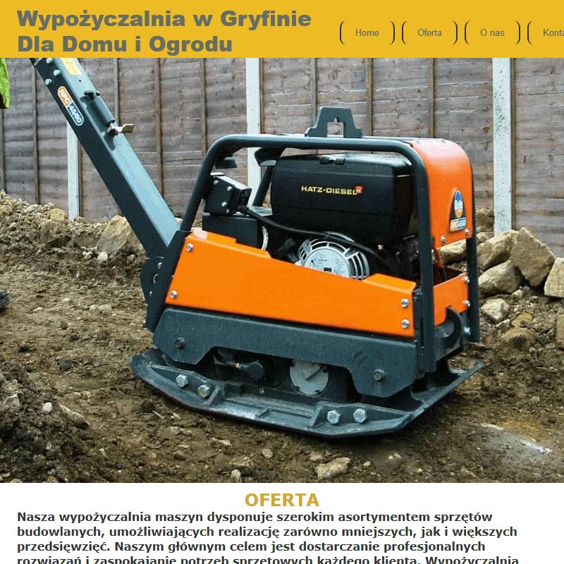 Wynajem maszyn budowlanych Szczecin