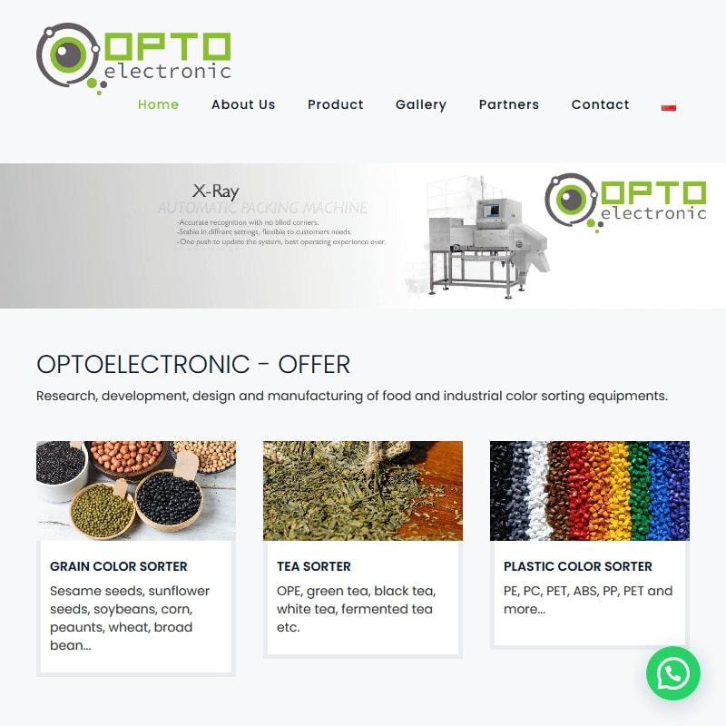 Sortownik optyczny kolorowego plastiku