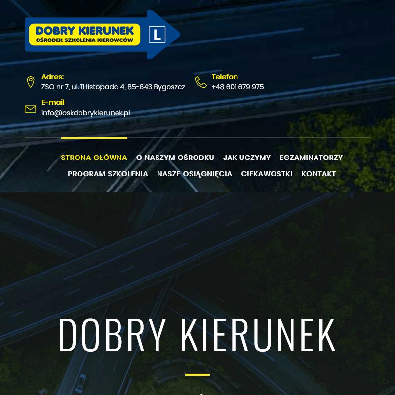 Nauka pewnego kierowania samochodem - Bydgoszcz