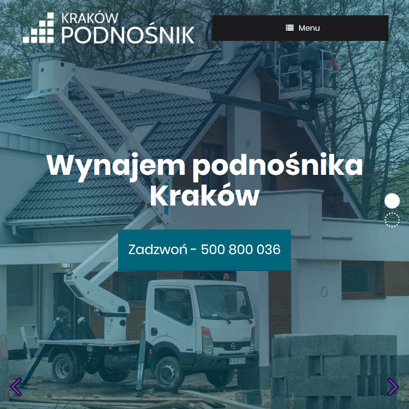 Wynajem podnośników koszowych - Kraków