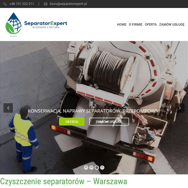 Czyszczenie separatorów konstancin - Warszawa
