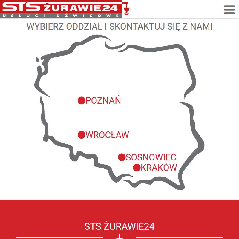 Katowice - dźwig samochodowy wynajem